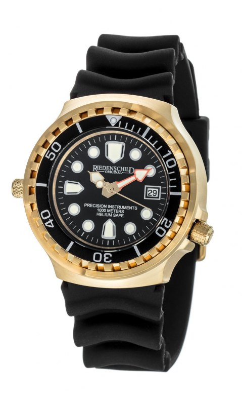 Riedenschild 100ATM GOLD Edition Taucheruhr RS9000-11