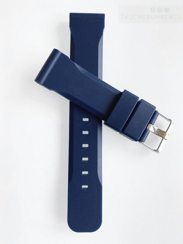 Silikonband Blau 20mm - 22mm